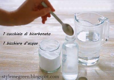 Shampoo fai da te al bicarbonato
