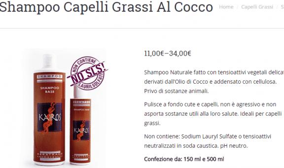Shampoo Capelli Grassi Al Cocco Prodotti Bio