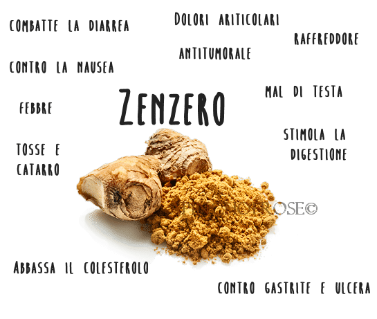 Zenzero benefici