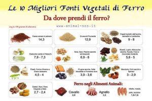Carenza di ferro cosa mangiare e quali rimedi naturali scegliere?