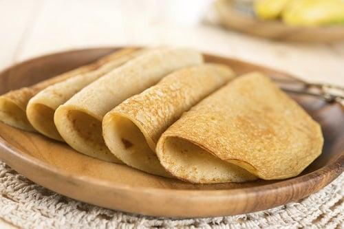 Crepes vegane ingredienti per 4 persone