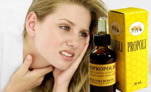 propoli per il mal di gola
