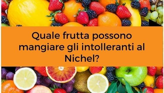 Frutta senza nichel