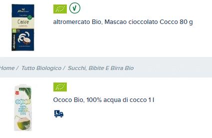 Acqua di cocco Esselunga